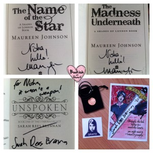 MJ and SRB Signed Books