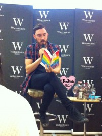 James Dawson reading from his book This Book is Gay